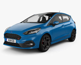 3D model of Ford Fiesta 5-door ST 2019