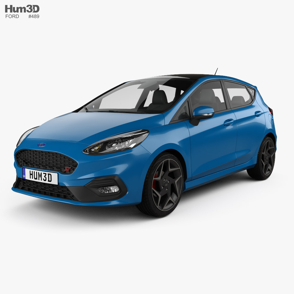 Ford Fiesta 5-door ST 2019 3D model