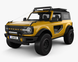 3D model of Ford Bronco Preproduction 2-door 2020