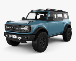 3D model of Ford Bronco Badlands Preproduction 4-door 2020