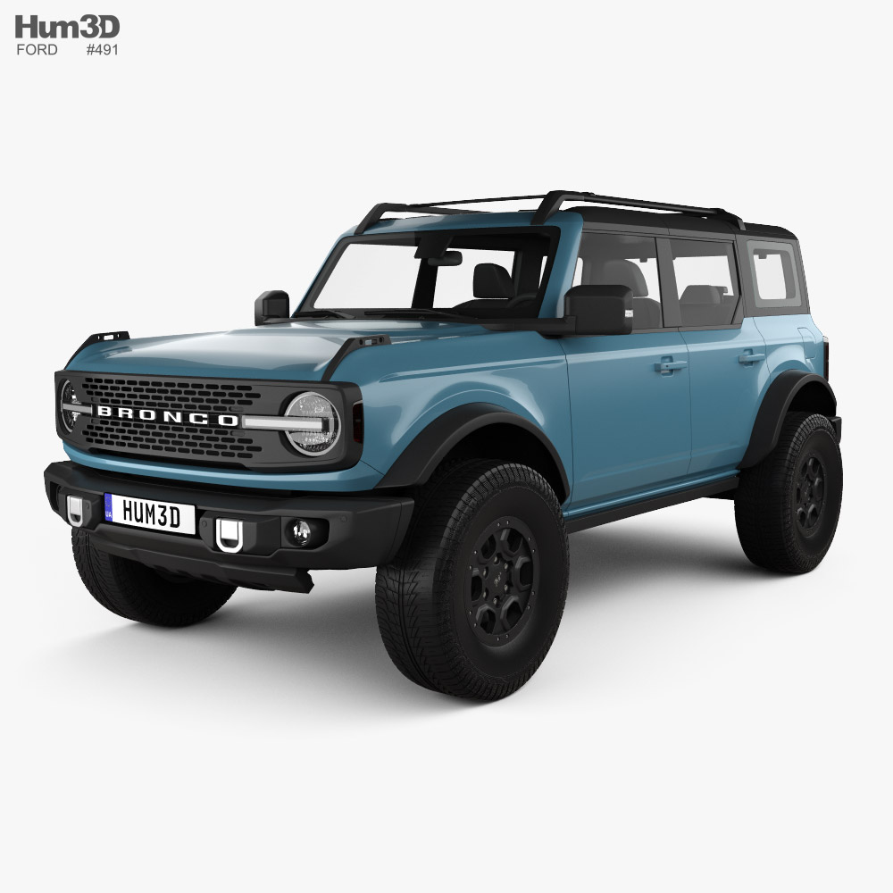 Ford Bronco Badlands Preproduction 4-door 2020 3D model