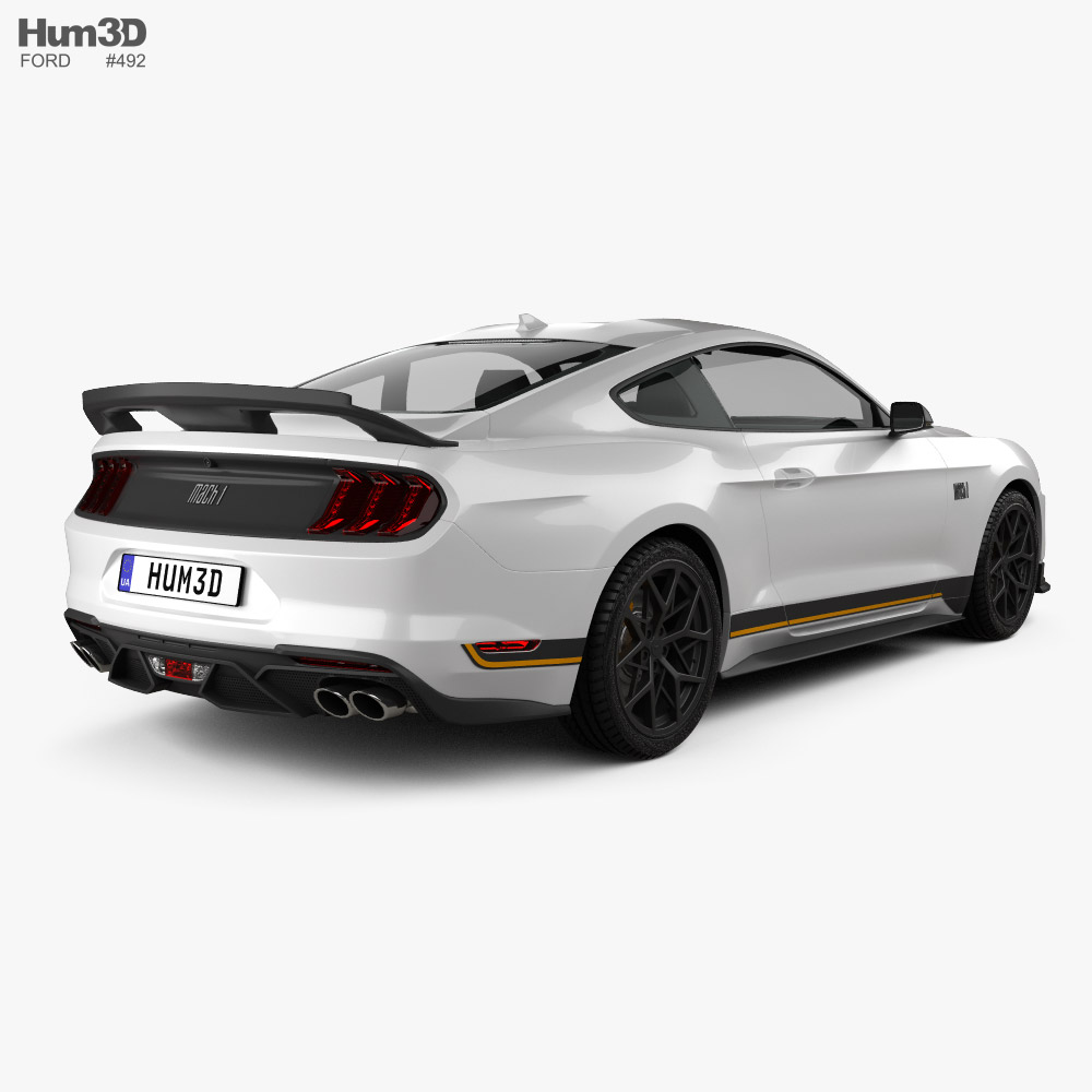 Ford Mustang Mach 1 Handling Package 2021 3d model back view
