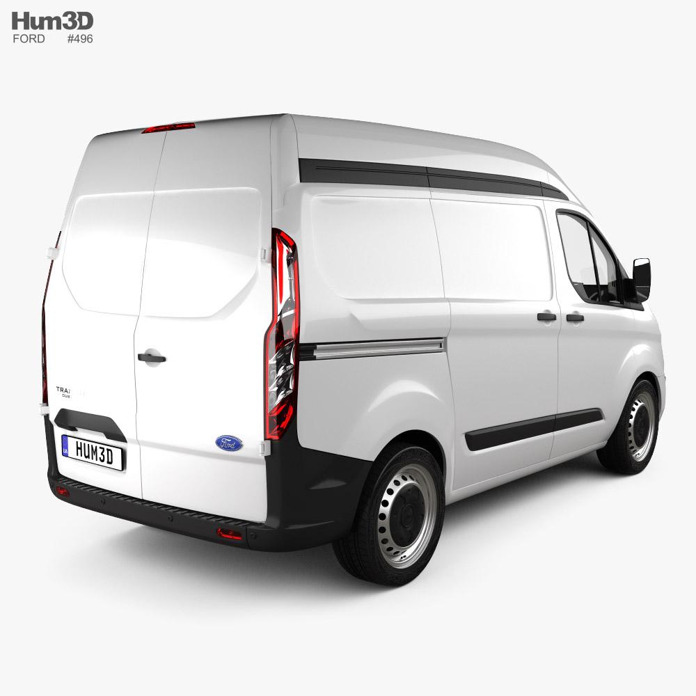 Ford Transit Custom Panel Van L1H2 with HQ interior 2012 3d model