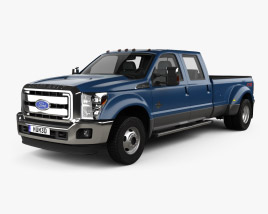 3D model of Ford F-450 SuperDuty Crew Cab Dually Lariat 2015