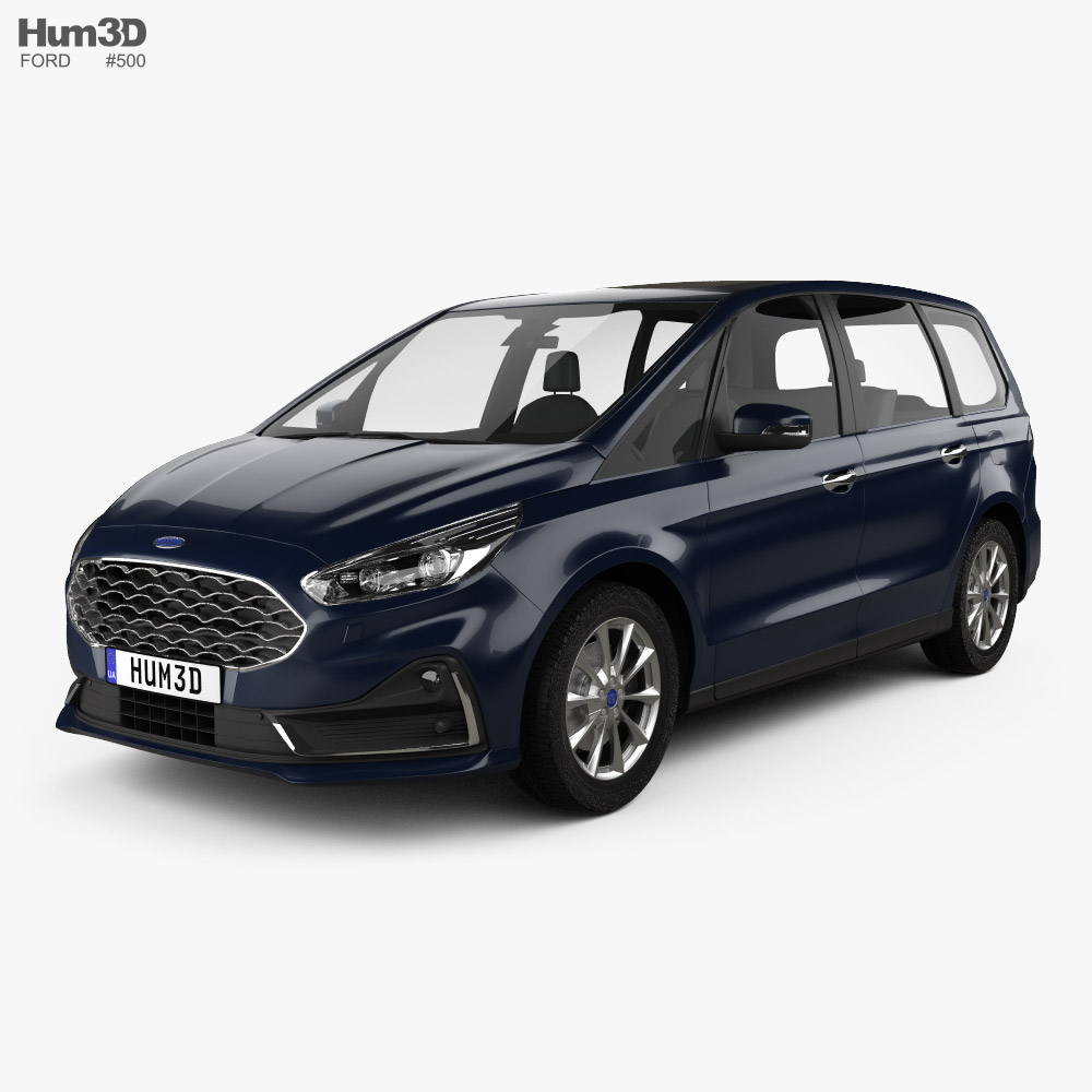 3D model of Ford Galaxy 2019