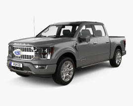 Ford F-150 Super Crew Cab 55ft Bed Limited 2021 3D model