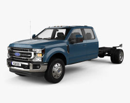 3D model of Ford F-550 Super Duty Crew Cab Chassis Lariat 2020