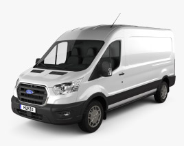 3D model of Ford Transit Panel Van L3H2 Trendline 2018