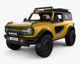 3D model of Ford Bronco Preproduction 2-door with HQ interior 2020