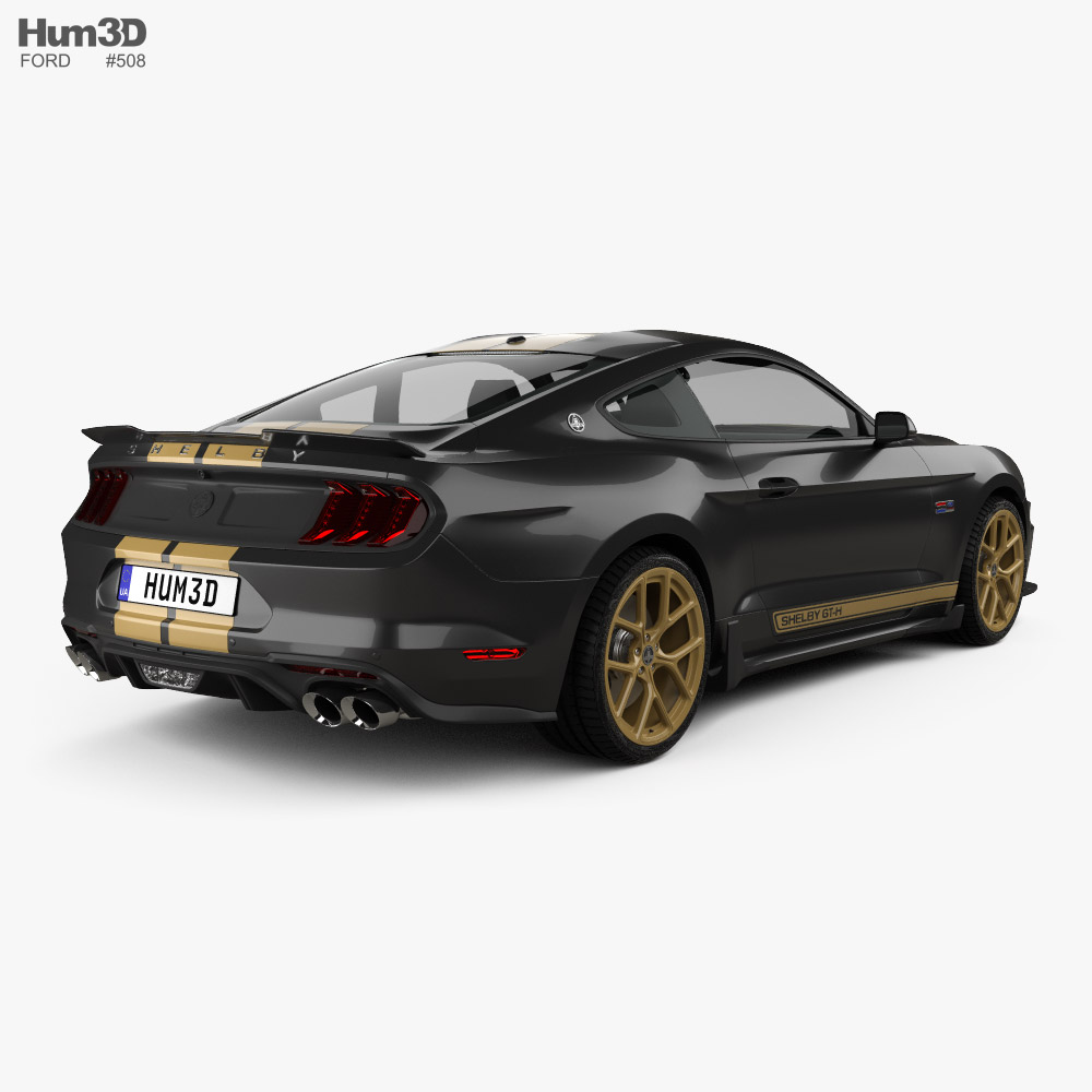 Ford Mustang Shelby GT-H coupe 2019 3d model back view