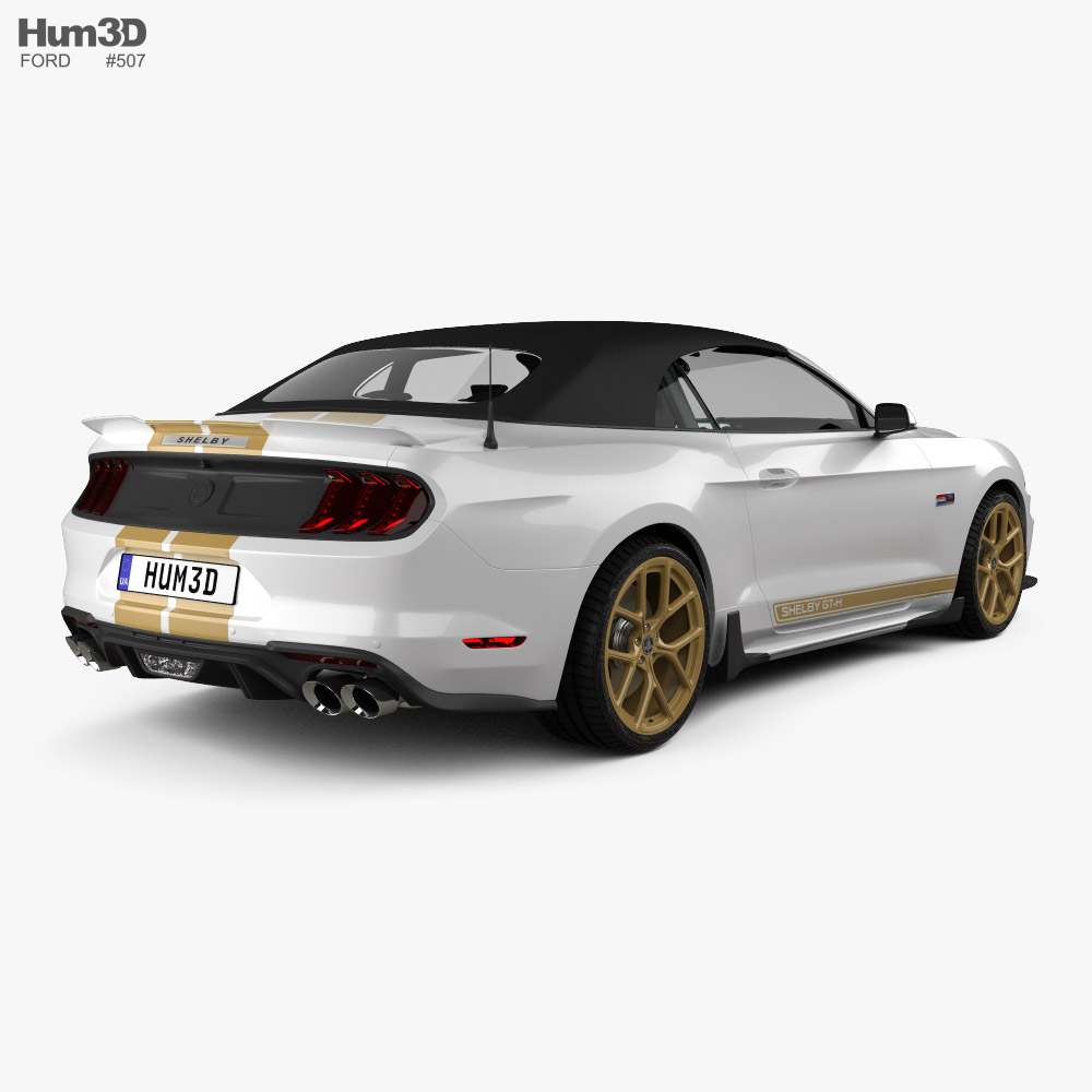 Ford Mustang Shelby GT-H convertible 2019 3d model back view