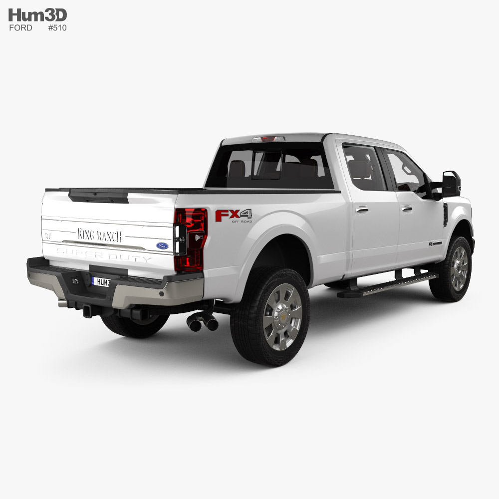 Ford F-350 Super Duty Super Crew Cab King Ranch with HQ interior 2015 3d model
