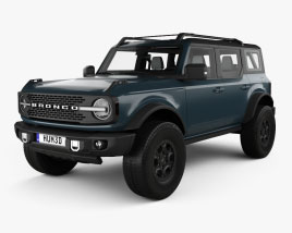 Ford Bronco Badlands Preproduction 4-door with HQ interior 2020 3D model