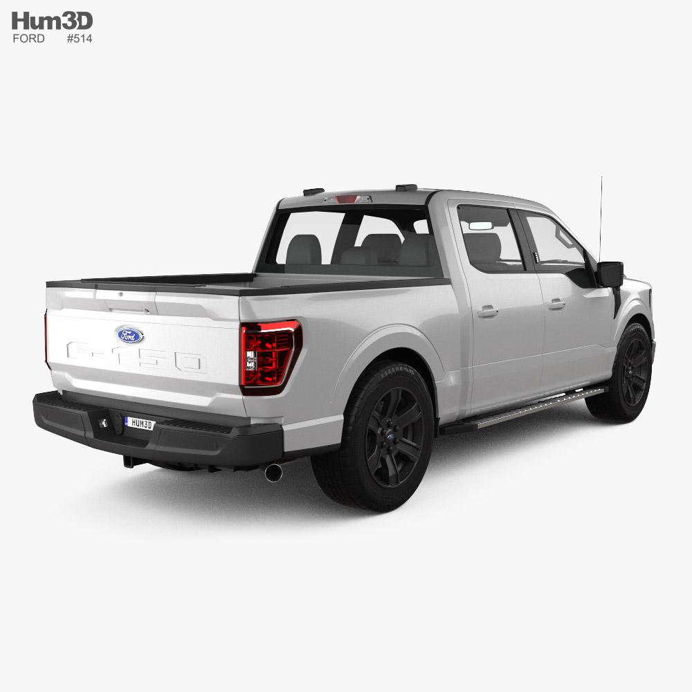 Ford F-150 Super Crew Cab 55ft Bed XLT 2021 3d model