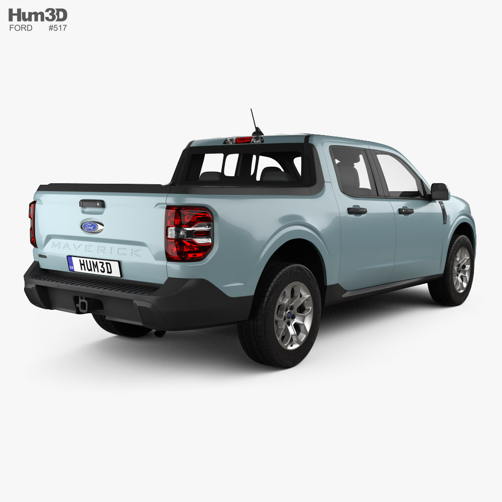 Ford Maverick Hybrid XLT 2021 3d model back view
