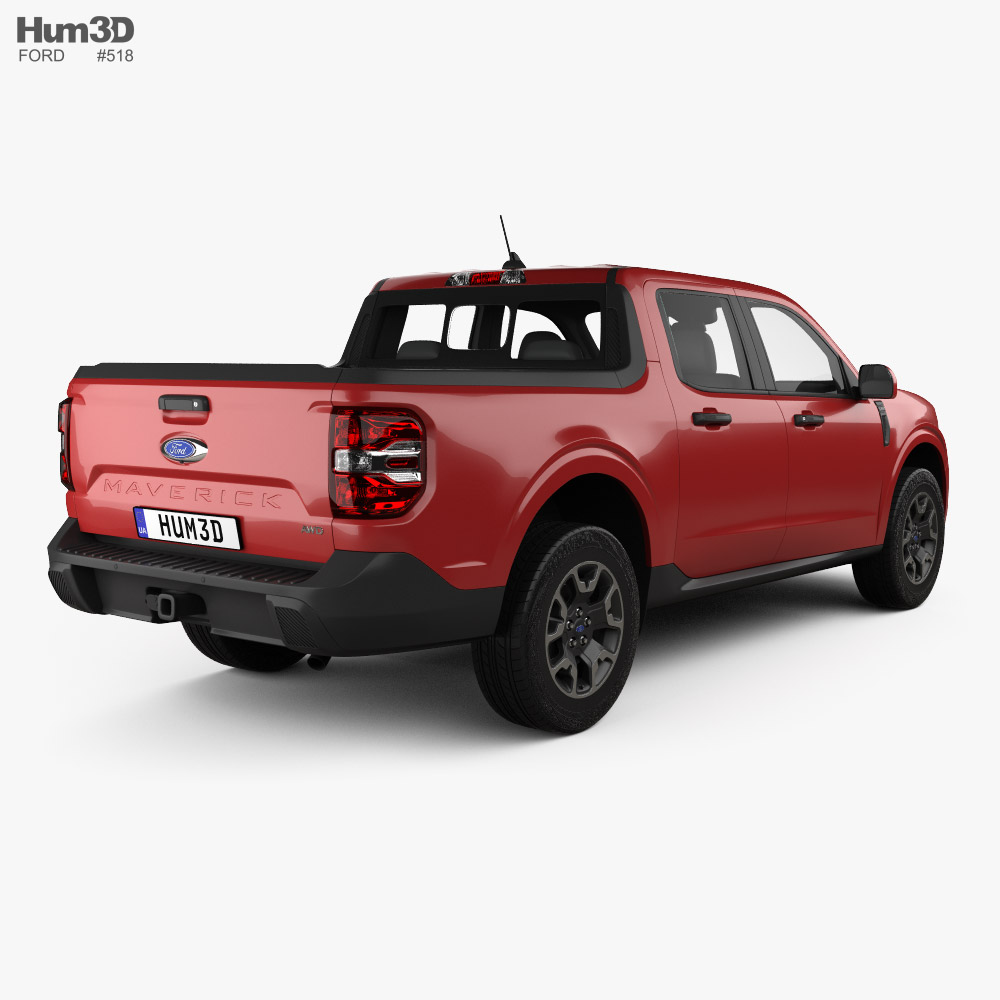 Ford Maverick Lariat 2021 3d model back view