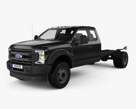 Ford F-550 Super Duty Extended Cab 84CA XL Chassis 2020 3D model