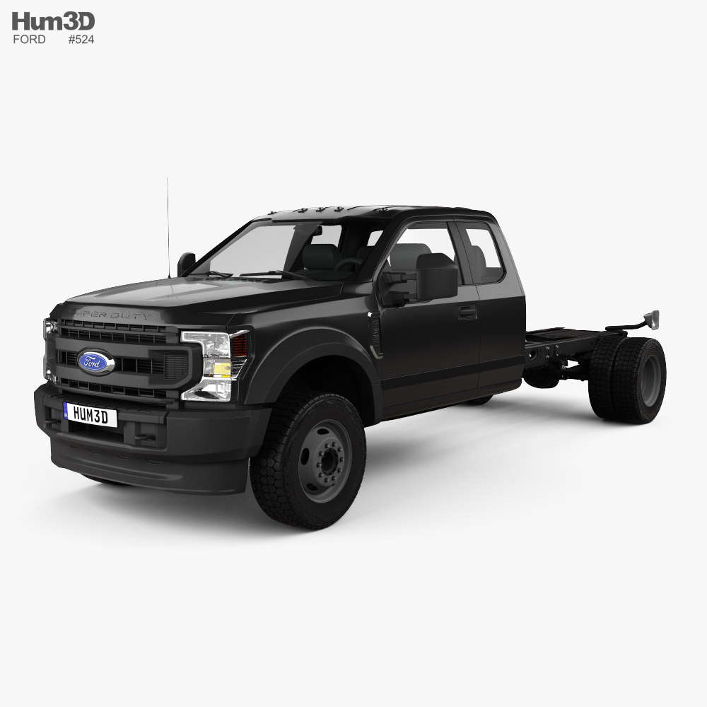 Ford F-550 Super Duty Extended Cab 84CA XL Chassis 2020 Modelo 3D