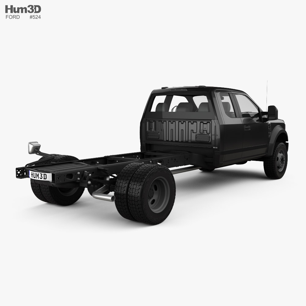 Ford F-550 Super Duty Extended Cab 84CA XL Chassis 2020 3d model back view