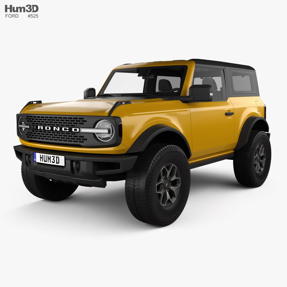 Ford Bronco 2-door Badlands 2021 3D model