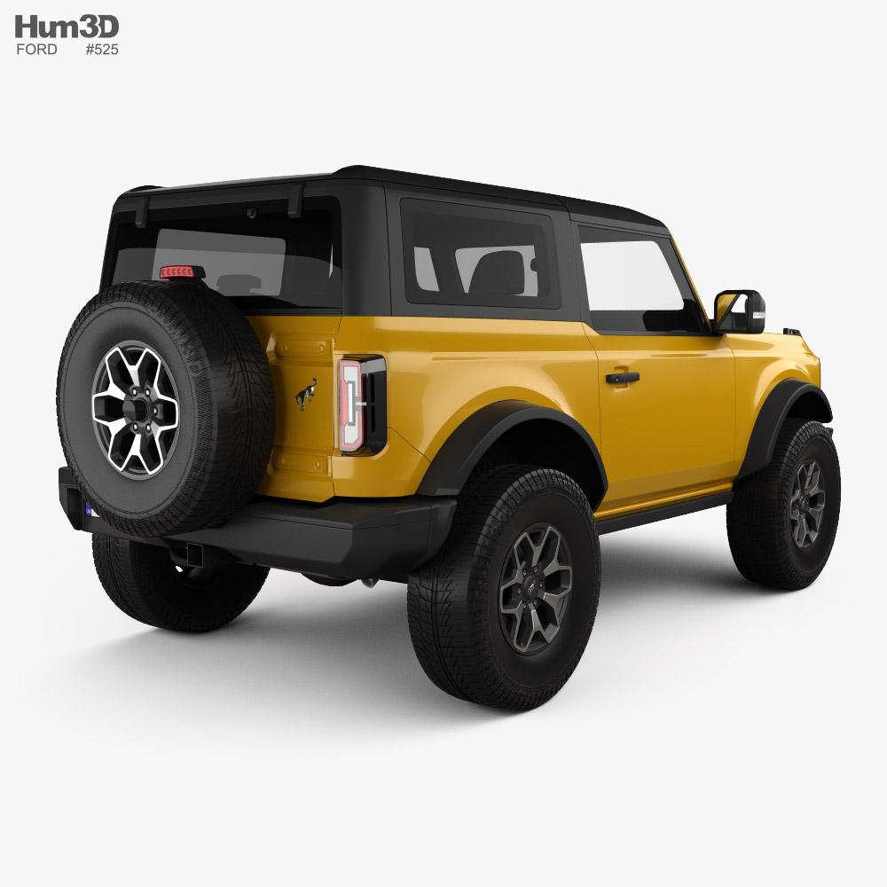 Ford Bronco 2-door Badlands 2021 3d model back view