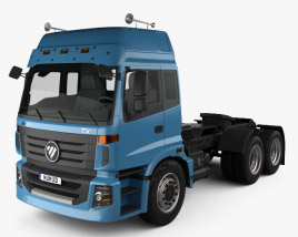 3D model of Foton Auman TX Tractor Truck 2012