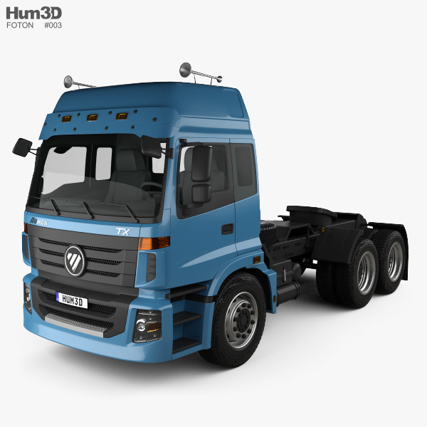 Foton Auman TX Tractor Truck 2012 3D model