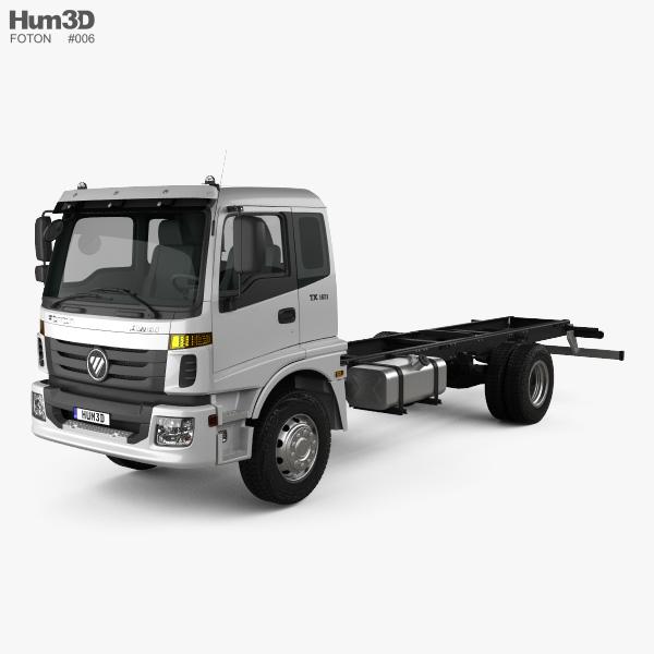 Foton Auman TX (1621) Chassis Truck 2-axle 2012 3D model
