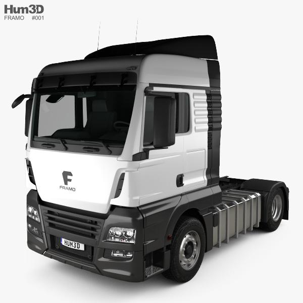 Framo e 180-280 Tractor Truck 2017 3D model