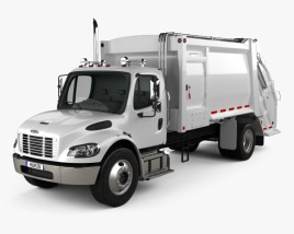 3D model of Freightliner M2 Heil PT 1000 Garbage Truck 2012