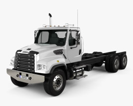 3D model of Freightliner 114SD Chassis Truck 2011