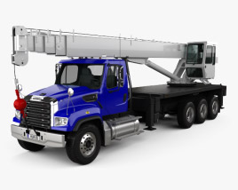 Freightliner 114SD クレーン車 2011 3Dモデル
