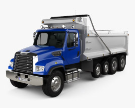 3D model of Freightliner 114SD Dump Truck 2011