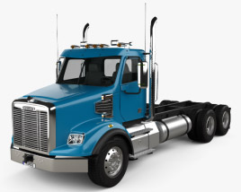 3D model of Freightliner 122SD Chassis Truck 2013