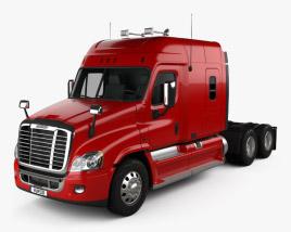 3D model of Freightliner Cascadia XT Tractor Truck 2007