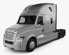 3D model of Freightliner Inspiration Tractor Truck 2015