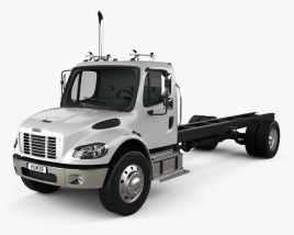 3D model of Freightliner M2 106 Day Cab Chassis Truck 2014