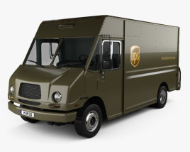 3D model of Freightliner P70D UPS Van 2006