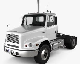 3D model of Freightliner FL112 Tractor Truck 2-axle 2003