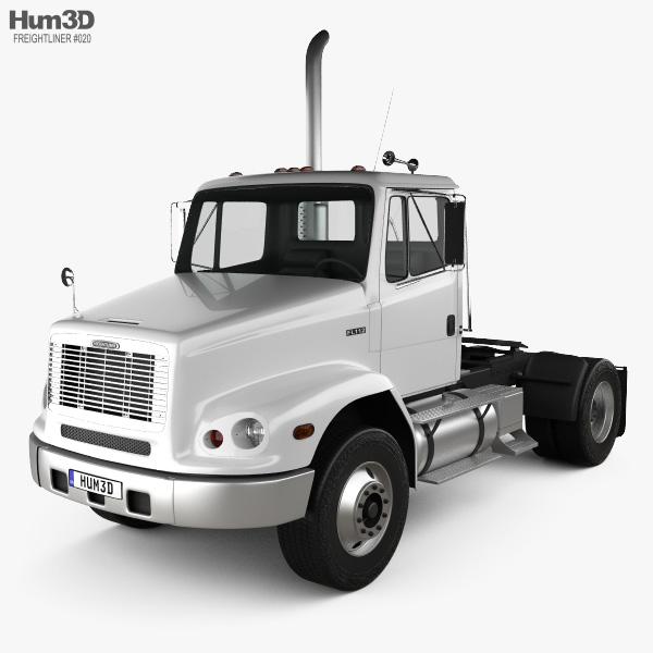 Freightliner FL112 Tractor Truck 2-axle 2003 3D model