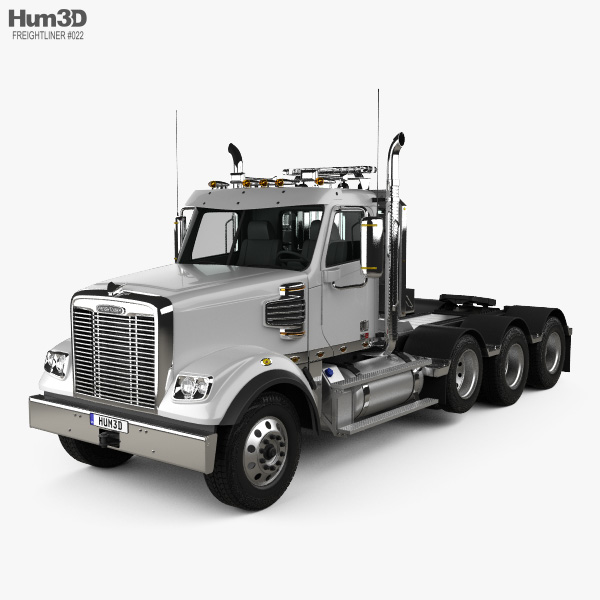 Freightliner 122SD SF Day Cab Tractor Truck 4-axle 2017 3D model