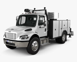 3D model of Freightliner M2 106 Utility Truck 2014