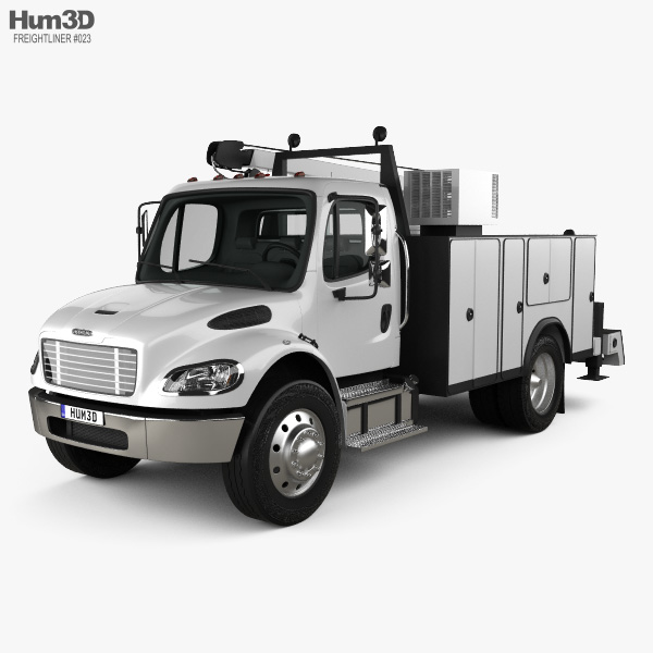 Freightliner M2 106 Utility Truck 2014 3D model