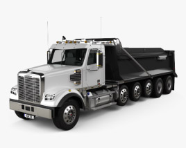 3D model of Freightliner 122SD SF Dump Truck 6-axle 2017