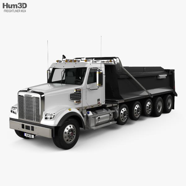 Freightliner 122SD SF Dump Truck 6-axle 2017 3D model