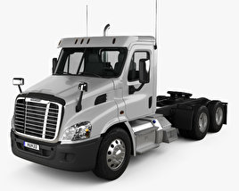 3D model of Freightliner Cascadia Day Cab Tractor Truck 2007