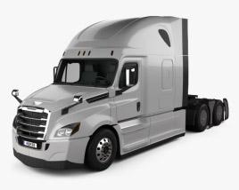 Freightliner Cascadia 126BBC 72 卧铺驾驶室 Raised Roof AeroX 牵引车 2018 3D模型