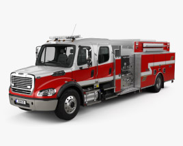 3D model of Freightliner M2 106 Crew Cab Fire Truck 2017