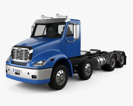 3D model of Freightliner Columbia Chassis Truck 4-axle 2018