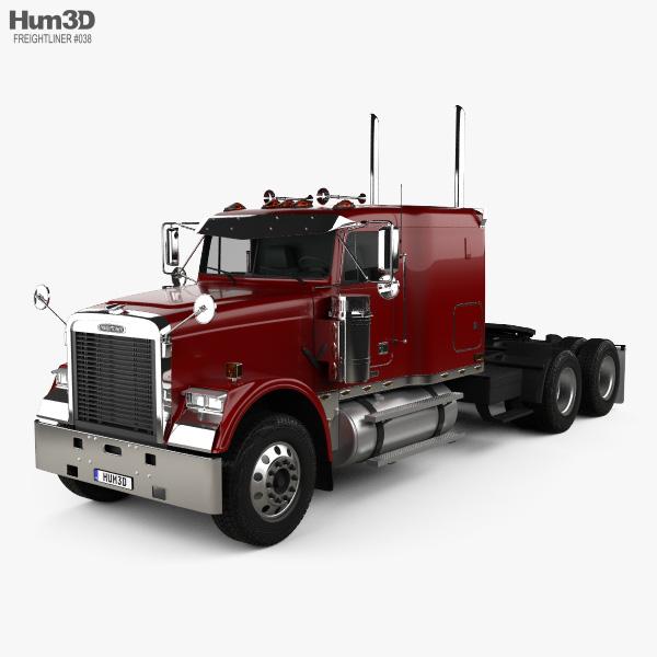 Freightliner FLD 120 Classic Sleeper Cab Flat Top Tractor Truck 2005 3D model
